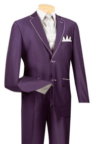 Purple and Silver