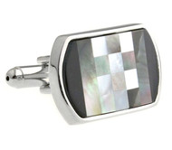 Black Onyx and Mother of Pearl Cufflinks (V-CF-G60446)
