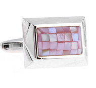 Lavender Mosaic Mother of Pearl Cufflinks (V-CF-G70802MPPK)