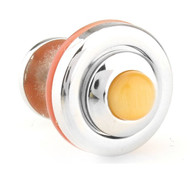 Reversible Melon Cabochon Cat's Eye Knob Cufflinks (V-CF-G70260O)