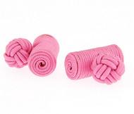 Pink Silk-Knotted Knob Cufflinks (V-CF-40161)