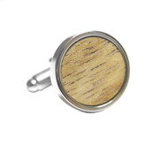 Small Round Wood Cufflinks (V-CF-W52666)