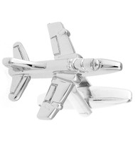 FA4 Fighter Jet Silver Cufflinks (V-CF-M6140-S)