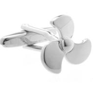 Silver Boat Propeller Cufflinks (V-CF52949-S)