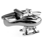 Tungsten Silver Helicopter Moving Blades Cufflinks (V-CF-M475-T)