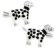 Dalmation Spotted Dog Cufflinks (V-CF-E447-S)