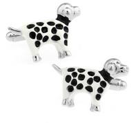 Dalmatian Spotted Dog Cufflinks (V-CF-E447-S)