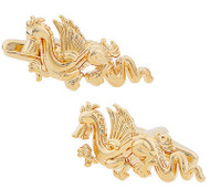 Gold Dragon Cufflinks (V-CF-90194-G)
