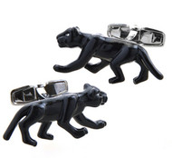 Large Black Panther Cat Cufflinks (V-CF-M50823)
