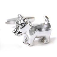 Little Dog Silver Cufflinks (V-CF-M56549)