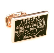 Electronic Computer Board in Rose Gold Cufflinks (V-CF-7700GR-RG)