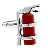 Red Fire Extinguisher Cufflinks (V-CF-M6383R)