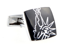 Abstract Statue of Liberty New York Cufflinks (V-CF-52679)