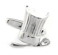Chef's Hat & Spoon Silver Cufflinks (V-CF-M50263-S)