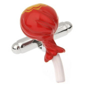 Large Red Lollipop Cufflinks (V-CF-71159)