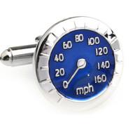 Blue Speedometer Cufflinks (V-CF-E210012BL-S)