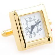 Large Gold Working Watch Cufflinks (V-CF-W52501)
