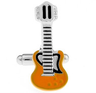 Gold Guitar Metal Cufflinks (V-CF-M436G)
