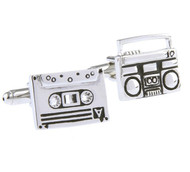 Music Cassette and Cassette Boom Box Cufflinks (V-CF-M70996)