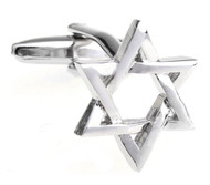 Silver Star of David Cufflinks (V-CF-M470-S)