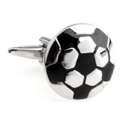 Silver Soccer Ball Cufflinks (V-CF-M5938S)