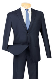 Vinci 2-Button Modern Navy Suit - Ultra Slim Fit