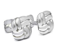Hickey Freeman Double-Sided Stainless Steel Cufflinks (HFCU-HF2)