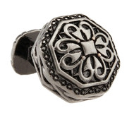 Large Tungsten Ornate Die Cast Metal Cufflinks (V-CF-M330006-T)