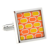 Orange Mod Design Cufflinks (V-CF-52227)