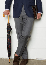 Baroni Couture Sharkskin Wool Dress Slacks - Flat Fronts