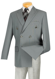 Lucci Double-Breasted Classic Grey Blazer