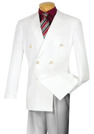 Lucci Double-Breasted Classic White Blazer
