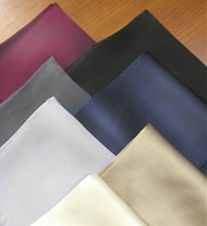 Outlet Center: 100% Satin Silk Pocket Square 13in x 13in