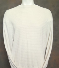 Bobby Chan Silk Long Sleeve Camp Sweater  - Cream