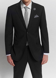 Privé 2-Button Super 150's Wool Suit -  Charcoal Slim Fit