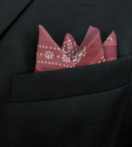 Pre-Folded Pocket Square Insert - Burgundy Design