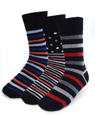 Parquet Men's Stylish Socks in Bright Stripes - 3 Pairs