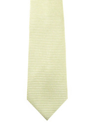 Antonio Ricci 100% Silk Woven Tie - Light Yellow Horizontal Weave