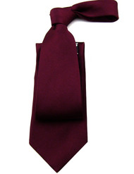 Raspberry 100% Silk Satin Tie