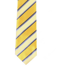 Umo Lorenzo Yellow Stripe Necktie