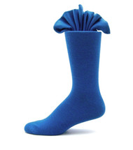 Antonio Ricci Premium Cotton Mid-Calf Dress Socks - Blue
