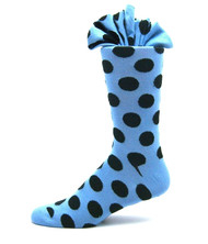 Antonio Ricci Premium Cotton Mid-Calf Dress Socks - Blue Dots