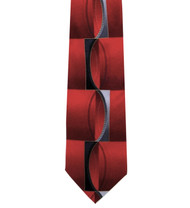 Outlet Center: Antonio Ricci 100% Printed Silk Tie - Red Illusion Design