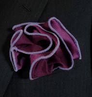 Antonio Ricci 2-in-1 Pouf Pocket Square - Lavender on Purple