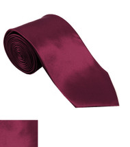 Antonia 100% Silk Narrow Tie w/Matching Pocket Square - Berry