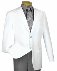 Lucci 2-Button White Blazer