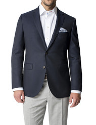 Outlet Center: Paul Betenly Real Horn Buttons Wool Slim Fit Blazer
