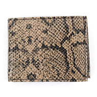 Snake Print Leather Bi-Fold Men's Wallet
