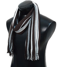 Scottish Brown Multi-Stripe Winter Scarf