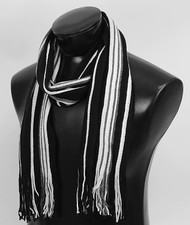Scottish Black Multi-Stripe Winter Scarf